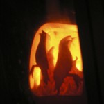 Firey ghost crows for Dave's fireplace 2006
