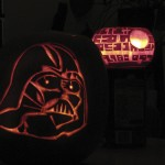Darth and Death Star lit up